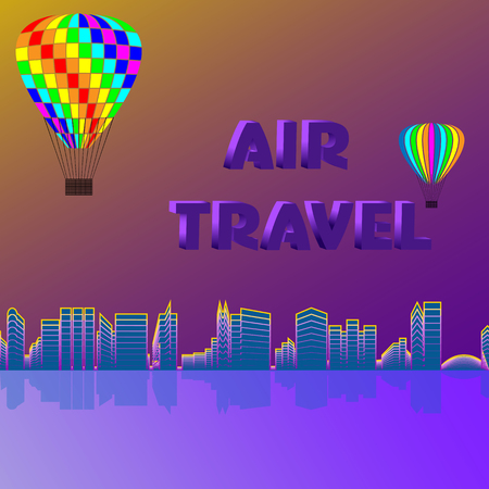 Travel along the coast in balloons.