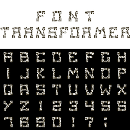 Font transformer. It has the ability to change the color and shape of letters at the discretion of the user. Positive effect on reading the text, consisting of this font.