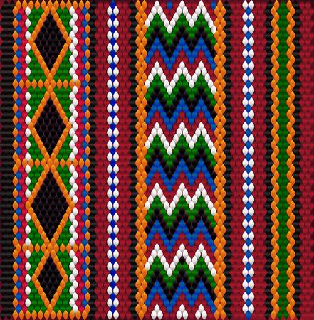 Fantasia su tessuto beduino Sadu. Colorato, luminoso, accattivante, con uno sguardo, stimolante.