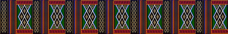 Pattern on Bedouin fabric Sadu. Colorful, bright, eye-catching, holding a look, inspiring. Illusztráció