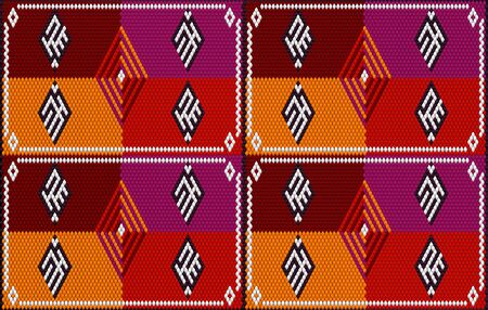 The traditional ornament of the inhabitants of the East, the Arab world, in which rich colors attract good luck and wealth. Women wove carpets for with ornaments, embroidered on fabrics for dresses. Embroidery patterns.