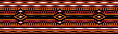 A traditional ornament of peoples and countries of Latin America in which rich colors attract attention and wealth. Women's woven carpets with ornament embroidered on fabrics for dresses. Embroideries Ilustración de vector