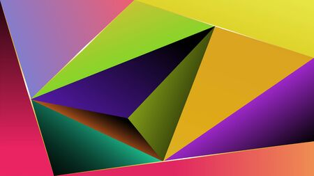 Background from triangles with multicolor gradient fill. The background is made in multicolor gradients.