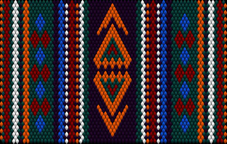 A traditional ornamenth. Women's woven carpets with ornament embroidered on fabrics for dresses. Embroideries patterns.