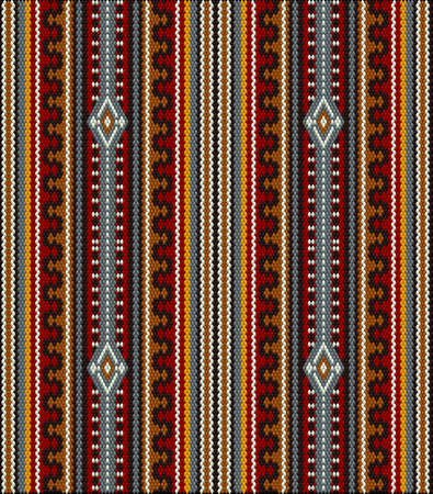A traditional ornament. Women's woven carpets with ornament embroidered on fabrics for dresses. Embroideries Illustration