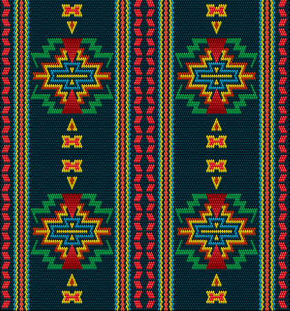 A traditional ornament. Women's woven carpets with ornament embroidered on fabrics for dresses. Embroideries patterns.