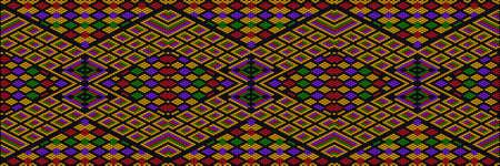 Ornament, mosaic, ethnic, folk pattern. It is made in bright, juicy, perfectly matching colors. Vektoros illusztráció
