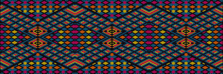 Ornament, mosaic, ethnic, folk pattern. It is made in bright, juicy, perfectly matching colors. Ilustração Vetorial