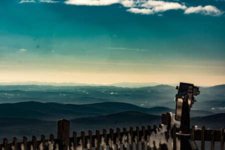 Cannon Mountain in Franconia, NH via Hi-Cannon, Kinsman Ridge, and Lonesome Lake Trails 免版税图像