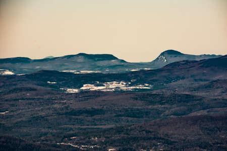 Cannon Mountain in Franconia, NH via Hi-Cannon, Kinsman Ridge, and Lonesome Lake Trails 스톡 콘텐츠