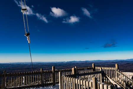 Cannon Mountain in Franconia, NH via Hi-Cannon, Kinsman Ridge, and Lonesome Lake Trails Stock Photo