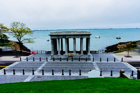 Plymouth Rock, Its Surrounding Structure, and Plymouth Harbor