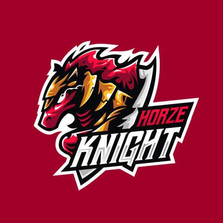 unicorn horse knight mascot for esport and sport team logo Logo