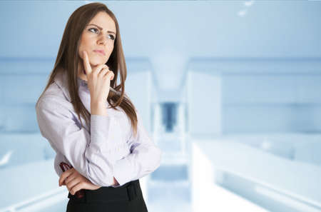 conceived: Conceived business girl in the office Stock Photo