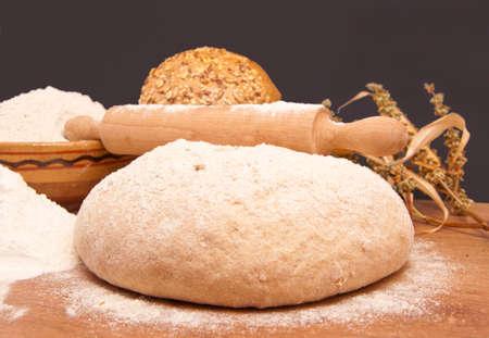 knead: Knead whole grain bread