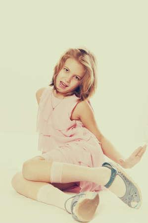 70s: Blond vintage 70s kid girl