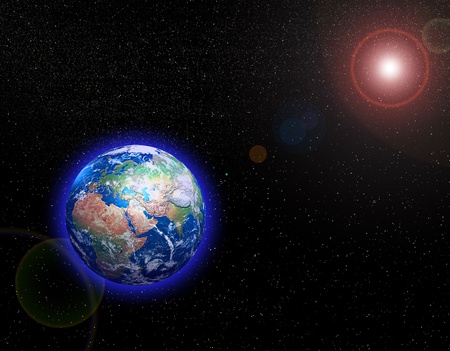 Earth in Space photo
