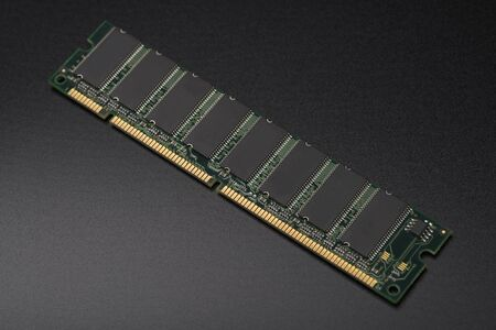 RAM chip. Memory module. Computer memory PC assembly.