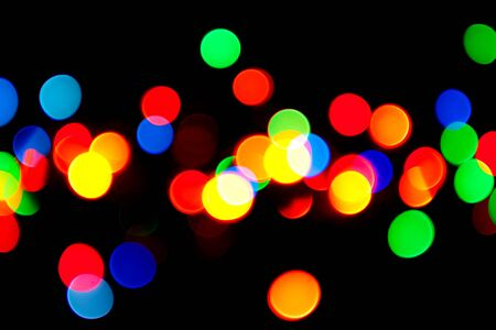Many colored spots defocused lights.