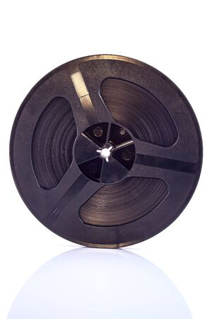 The old reel tape isolated on a white background