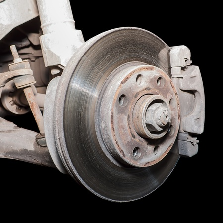 The former used a little rusty brake disc