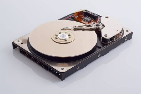 Hard disk on a white background  photo