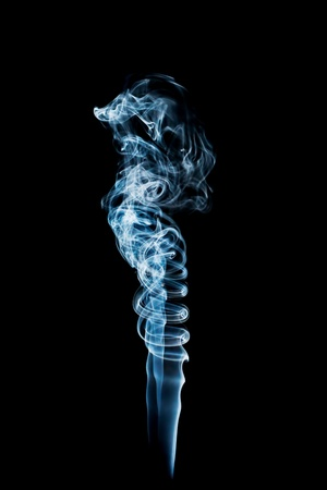 wisp: Beautiful smoke on a black background  Stock Photo