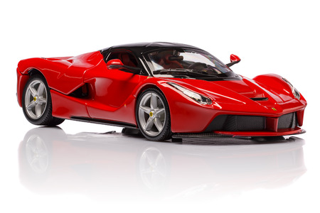 MARANELLO, PROVINCIA DI MODENA, ITALY - OCT 04- Model of ferrari laferrari on background, Sunday 04 October 2015