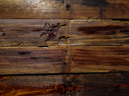 Background of old wooden slats treated with linseed oil Reklamní fotografie