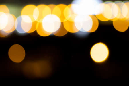 Background of defocused lights in the middle of the night Imagens - 128789495