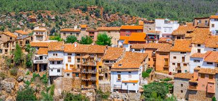 View of the mountain village Fuente de la reina Imagens