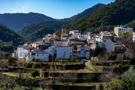 View of the rural town of Ain located in the interior of Castellon