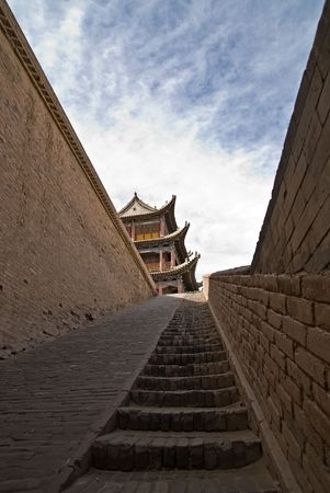 jiayuguan: Jiayuguan, the west end of China Great Wall Stock Photo