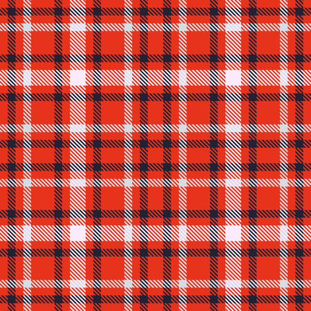 Red black and white tartan seamless vector pattern. Checkered plaid texture. Geometrical square background for fabric Imagens