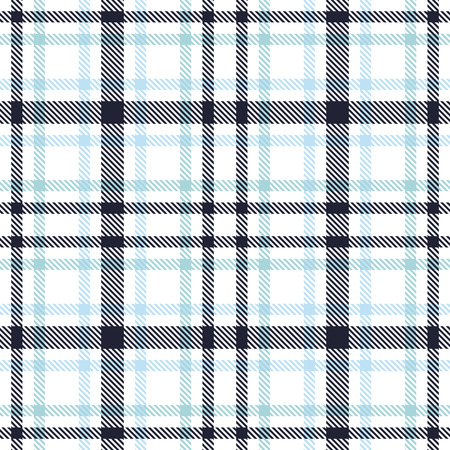 Tartan seamless vector pattern. Checkered plaid texture. Geometrical square background for fabric Çizim