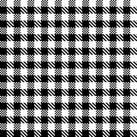 Checkered black and white tiles design illustration Standard-Bild - 97384852
