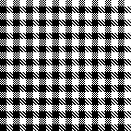 Checkered black and white tiles design illustration