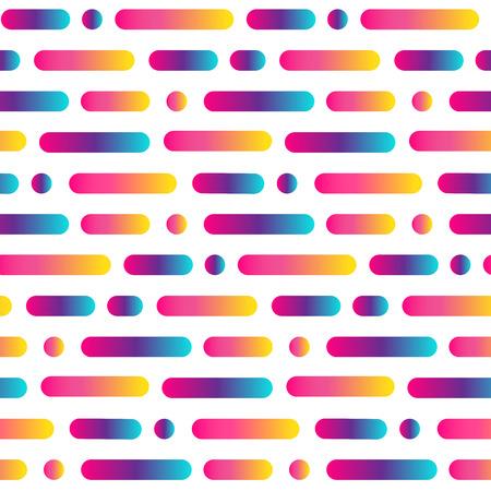 明るい丸い線抽象シームレスパターン。多色のストライプと円の背景をグラデーションでグラデーションします。ベクトル図