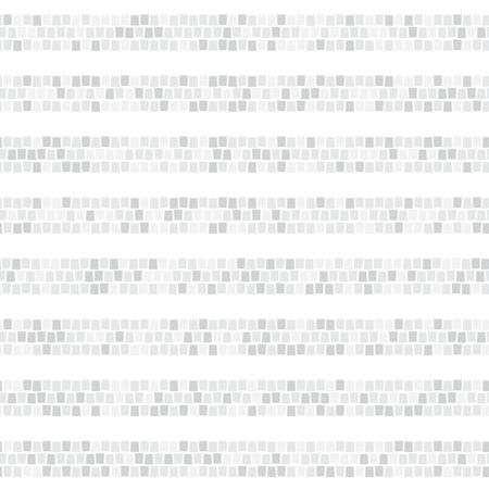 ライトグレーの抽象的なモザイク水平ストライプシームレスパターン。セラミックタイルフラグメント無限のテクスチャベクトルの背景