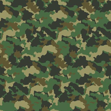 Fondo inconsútil del vector del modelo del camuflaje abstracto del color verde. Telón de fondo de diseño de arte de camuflaje de estilo militar moderno.