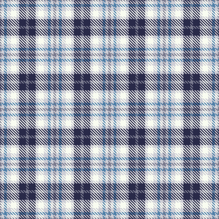 Tartan seamless vector pattern. Checkered plaid texture. Geometrical square background for fabric Illustration