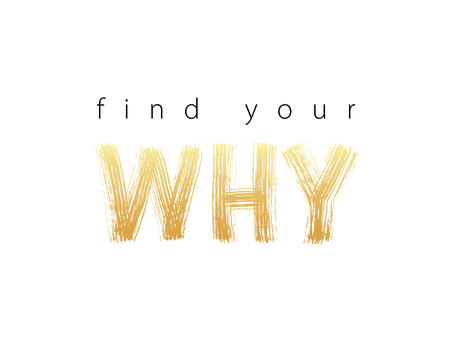 Find Your Why text. Vector illustration. Motivational inspirarional quote. Hand drawn word. Dry brush Modern calligraphy Reklamní fotografie - 101974469