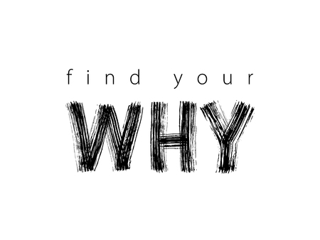 Find Your Why text. Vector illustration. Motivational inspirarional quote. Hand drawn word. Dry brush Modern calligraphy