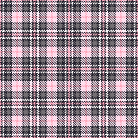 Pink tartan seamless vector patterns. Checkered plaid texture. Pink and gray. Geometrical simple square background for fabric textile cloth, clothing, shirts shorts dress blanket, wrapping design 일러스트