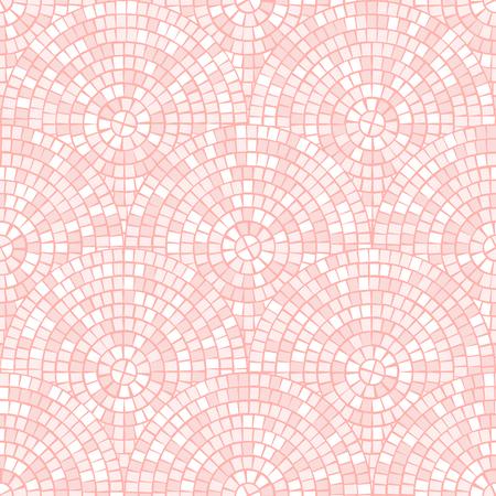 Patrón transparente de mosaico abstracto rosa pastel claro. Fondo de vector. Para diseñar y decorar el telón de fondo. Textura sin fin. Fragmentos de baldosas cerámicas. Trencadís de azulejos rotos. Fondo claro neutro
