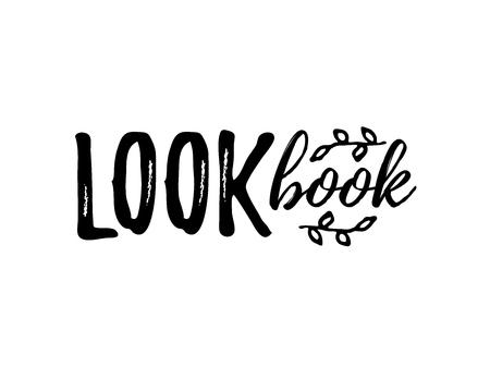 Lookbook text logo. Vector illustration isolated on white background. 2019