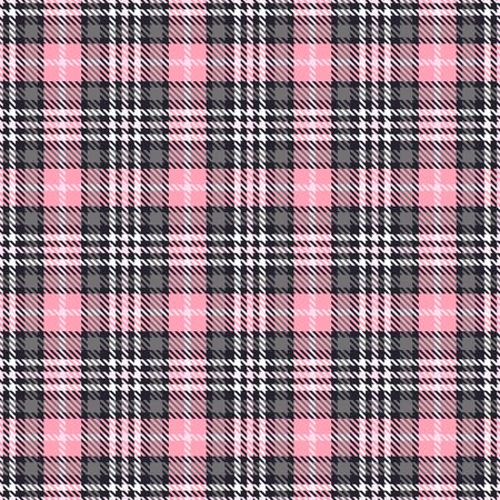 Rosa Tartan nahtlose Vektormuster. Karierte karierte Textur. Pink und Grau. Geometrischer einfacher quadratischer Hintergrund für Stoff Textil Stoff, Kleidung, Hemden Shorts Kleid Decke, Verpackung Design