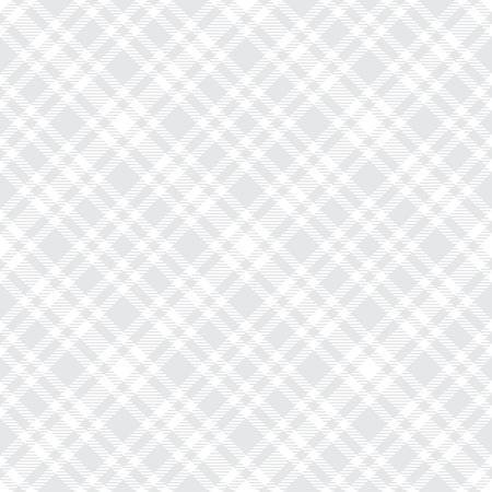 Tartan grigio chiaro vettore seamless pattern. Trama plaid a scacchi. Sfondo quadrato semplice geometrico per stoffa in tessuto, abbigliamento, pantaloncini per camicie, coperta, design avvolgente Vettoriali