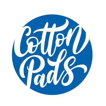 Cotton pads label on white Ilustracja