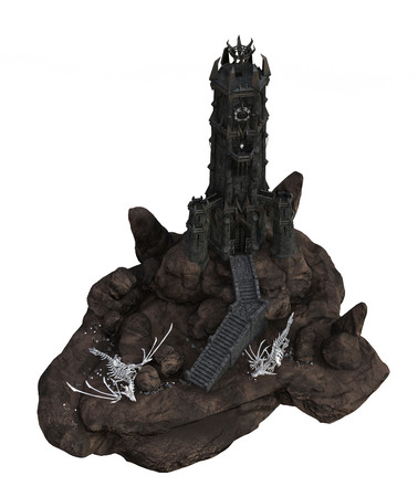 Tower with Dragon Skeleton
